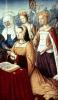 Anne of Brittany with St. Anne St. Ursula and St. Helen by Jean Bourdichon