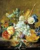 Flowers and Fruit by Jan Van Huysum