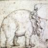Elephant Hanno and his Mahout by Italian School