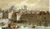 The Grand Chatelet and the Pont aux Meuniers by Theodor Josef Hubert Hoffbauer