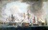 The Defeat of the Forces of France and Spain at the Battle of Trafalgar by Robert Dodd