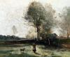 Morning in the Field by Jean-Baptiste-Camille Corot