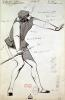 Costume design for an Acrobat in 'Benvenuto Cellini' by Paul Lormier