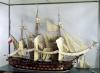 Model of the ship 'L'Achille' a 74 gun ship built at Rochefort by French School