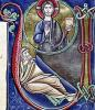 Historiated initial 'V' or 'U' depicting the Prophecy of Isaiah by French School
