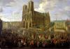 The procession of King Louis XV after his coronation 1724 by Pierre-Denis Martin