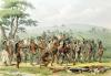 Mandan Archery Contest c.1832 by George Catlin