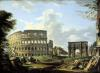 The Colosseum and the Arch of Constantine by Giovanni Paolo Panini