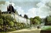 View of the Chateau de la Malmaison next to the park by Auguste Simon Garneray