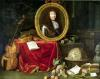 Still life with portrait of King Louis XIV 1672 by Jean Garnier