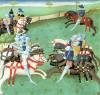 Teaching Knights to Joust from 'Roman du Saint Graal' by French School