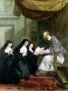 St. Francois de Sales Giving the Rule of the Visitation to St. Jeanne de Chantal by Noel Halle