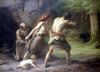 Prehistoric Man Hunting Bears 1832 by Emmanuel Benner