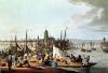 View of Frankfurt 1814 by German School
