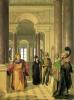 The Main Staircase of the Louvre 1817 by Louis Eugene Gabriel Isabey