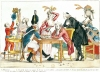 Caricature of Louis XVI playing chess with a soldier by French School