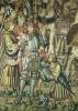 Detail of Uriah the Hittite being armed from 'Assembling the Riders' by Flemish School