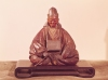 Seated statue of Basho by Ran-Koo