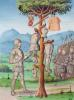 Aeneas hangs the armour of Mezentius from an oak tree 1469 by French School