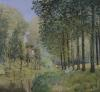 The Rest by the Stream. Edge of the Wood 1872 by Alfred Sisley