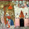 Siege of the Chateau de Chinon by French School