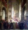 Estates General of Paris Meeting in Notre-Dame after the Death of Charles IV by Jean Alaux