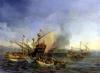 Naval Battle of Episkopi 1841 by Auguste Etienne Francois Mayer