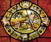 Window depicting August from Montigny by French School