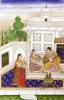 Vilaval Ragini' Woman at her Toilet from a Ragamala Rajastan by Indian School