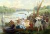 A Regatta at Asnieres during the Second Empire by Antony Paul Emile Morlon