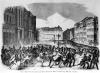 Insurrection in Berlin 1848 illustration from 'Illustrierte Zeitung' by German School