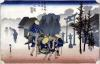 Morning Mist at Mishima from '53 Stations of the Tokaido' 1834 by Ando Hiroshige
