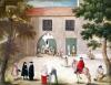 Distributing Alms to the Poor from 'L'Abbaye de Port-Royal' c.1710 by Louise Madelaine Cochin