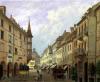 The Arcades Grand Rue Colmar 1876 by Michel Hertrich