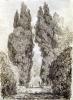 Large Cypresses at the Villa d'Este by Jean-Honoré Fragonard