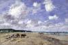 The Beach at Tourgeville 1893 by Eugene Louis Boudin