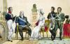Louis XVIII and his Family by French School