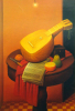 Still Life With Mandolin by Fernando Botero