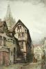 Joan of Arc's House, Rouen (Restrike Etching) by Anonymous