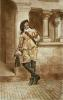 Cavalier (with Riding Crop) (Restrike Etching) by Jean-Louis Ernest Meissonier
