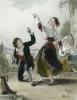 Dancing the Tarantella (Restrike Etching) by Thomas Uwins