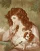 Young Girl with Flute (Restrike Etching) by Anonymous