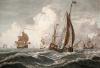 Brisk gale (Restrike Etching) by Willem Van de Velde