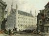 Loavain, Belgium - Town Hall (Restrike Etching) by Thomas Allom