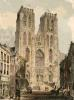 Brussels Cathedral (Restrike Etching) by Anonymous