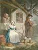 Valentines Day, The Fairing (Restrike Etching) by George Morland