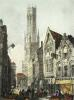 Bruges - The Cathedral (Restrike Etching) by Anonymous