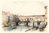 Florence, The Ponte Vecchio (Restrike Etching) by A.C. Fare