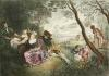 Amusements Champetres Ruris (Restrike Etching) by Jean Antoine Watteau