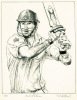Kevin Pietersen (Restrike Etching) by Terence Gilbert